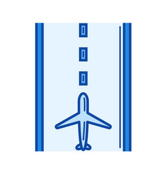 runway line icon vector image