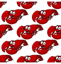 Seamless pattern of a fresh lobster vector image vector image