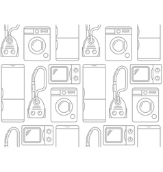 Seamless pattern of household electronics vector image