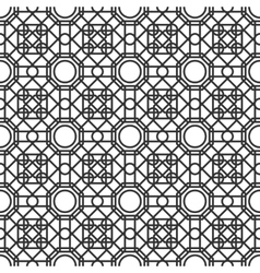 Seamless pattern with overlapping geometric shapes vector image vector image