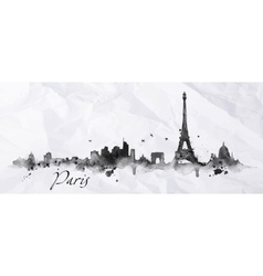 Silhouette ink Paris vector image