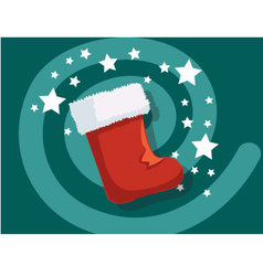 Sock icon christmas vector image