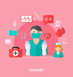 Surgery flat composition vector