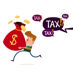 tax and financial threat vector image vector image