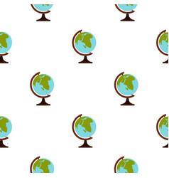 Terrestrial globe pattern seamless vector