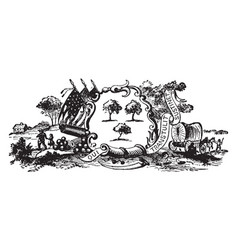 The official seal of colonial connecticut in 1635 vector