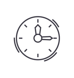 timeclock line icon sign on vector image vector image