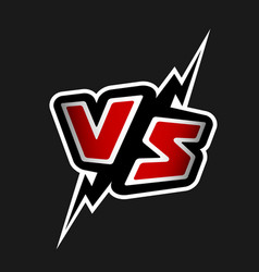 versus letters vs logo vector image vector image