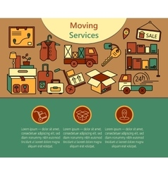 Delivery services warehouse logistic moving home vector