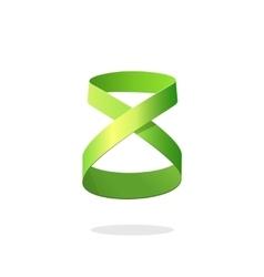Abstract green loop ribbon logo element design dea vector