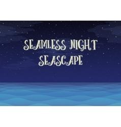 Night sea seamless background vector
