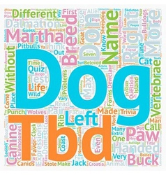 Test your canine acumen text background wordcloud vector