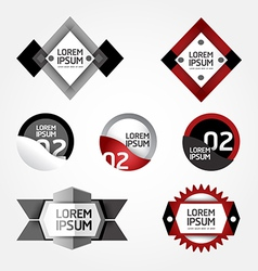 Modern design modern labels can be used for infog vector