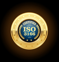 Iso 3166 standard medal - country codes vector