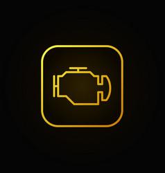Check engine yellow icon vector