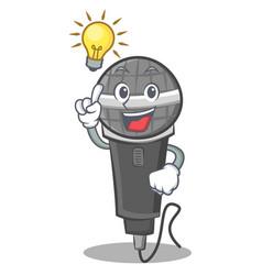Have an idea microphone cartoon character design vector