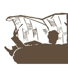 Newspaper reading vector