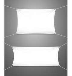 Two blank white banners with copyspace vector