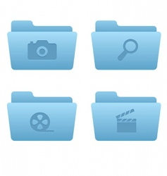 06 light blue folders internet vector