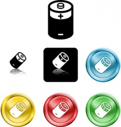 battery icons vector image
