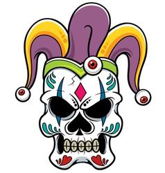 Skull joker vector