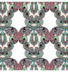 Seamless pattern owl doodle cartoon vector