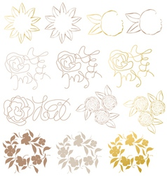 Design elements flower vector