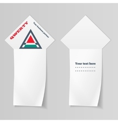 Paper vertical banners triangular logo labels vector