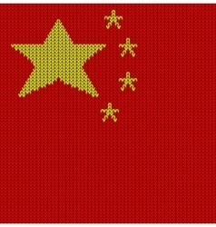 Knitted flag of china vector