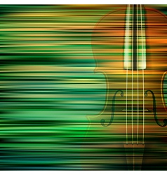 Abstract green blur background with violin vector