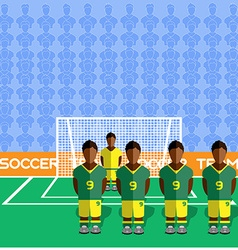 South Africa Soccer Club Penalty on a Stadium vector image