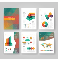 Business brochure design infographics template vector