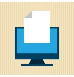 Monitor computer design vector