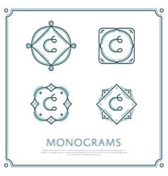 Letter c monogram vector