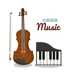 Cello and piano icon music instrument vector