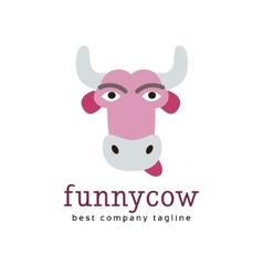 Abstract funny cow logo icon concept vector