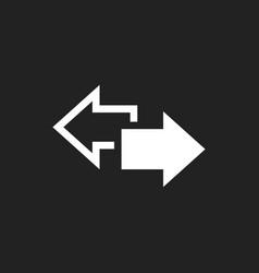 Arrow left and right icon forward arrow sign vector