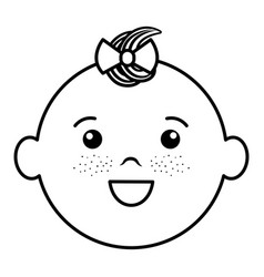 baby face happy vector image