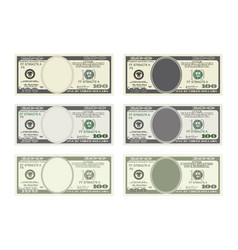 Bill one hundred dollars in six options vector