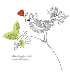 bird background vector image vector image