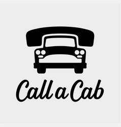 call a cab taxi service icon vector image vector image