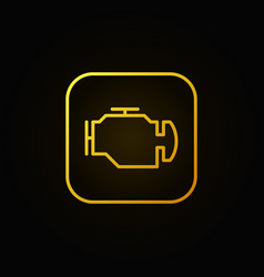 Check engine yellow icon vector
