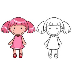 Girl doll vector image vector image
