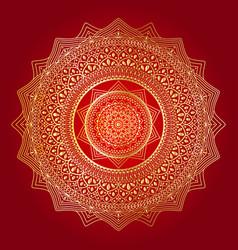 Happy navratri mandala design background vector