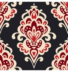 Luxury Damask flower pattern vector image vector image