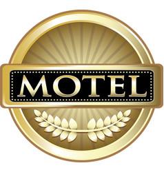 Motel gold labe vector
