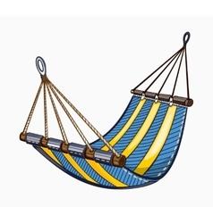 painted hammock vector image vector image