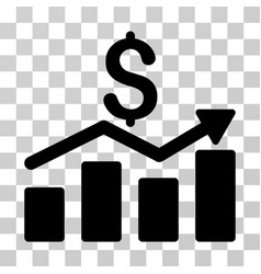 sales chart icon vector image