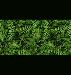 seamless palm trees leaves background vector image