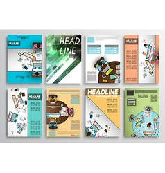 Set of flyer design infographic layout brochure vector